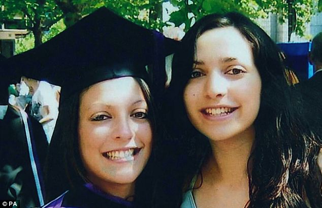 Horror: Stephanie Kercher (left) has spoken of the fear and terror her sister Meredith (right) must have felt on the night she was murdered