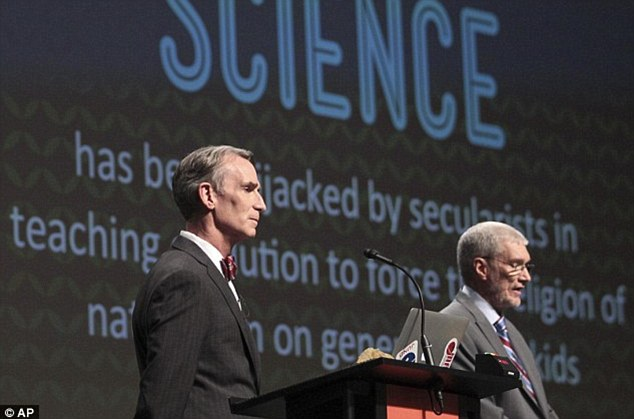 Speaking out: Nye recently debated a creationist over evolution