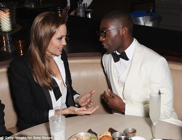Talking it out: The actress chatted with the rapper over dinner and drinks