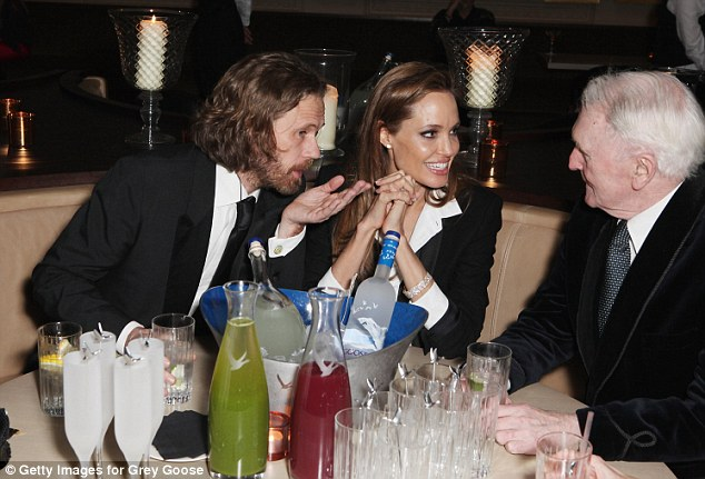 Chummy: The star chatted with a variety of fellow guests at the party