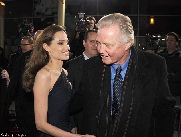 Reunited: The father and daughter were pictured together at the premiere of  In the Land of Blood and Honey on December 8, 2011 in Hollywood