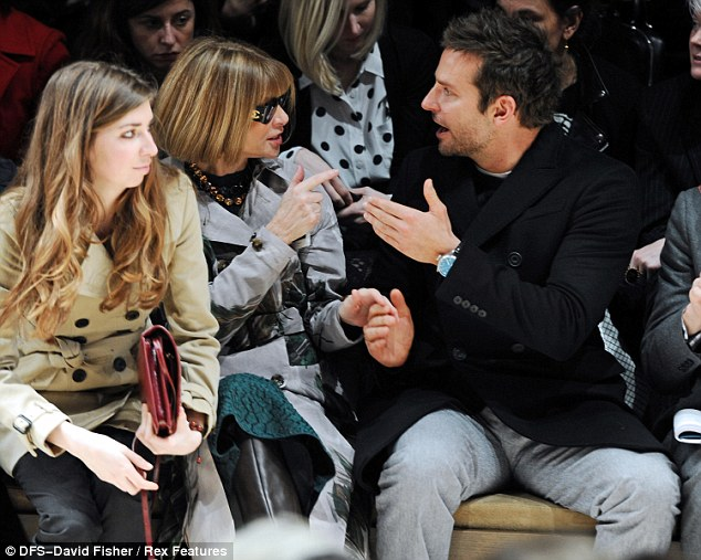 Engrossing conversation: Anna and Bradley seemed to be having an energetic discussion