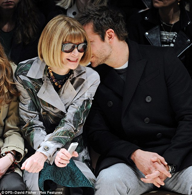 Working his magic: Bradley even managed to get Anna to crack a smile on the front row