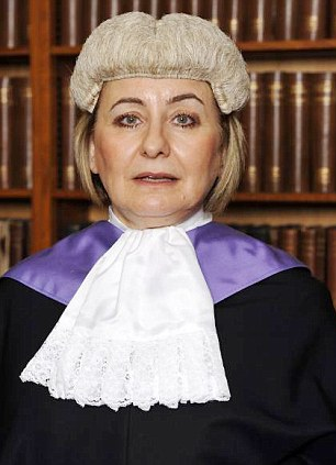 Target: The mother even accused judge Laura Harris, pictured, of being biased towards her ex-husband