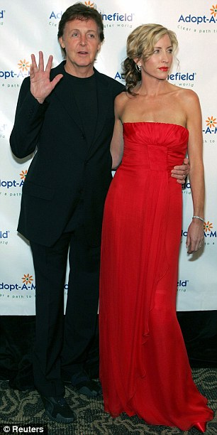 Fashion conscious: Guy started cutting Paul's hair when he was married to ex-wife Heather Mills, pictured in 2006