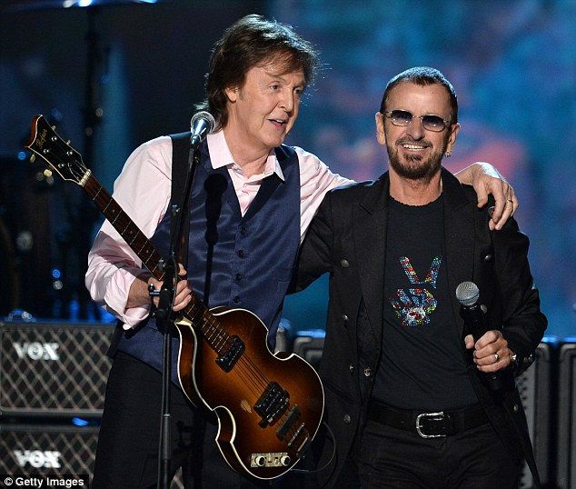 Different styles: Paul, pictured on January 27, has gone for a longer cut, while former bandmate Ringo Starr prefers a short crop