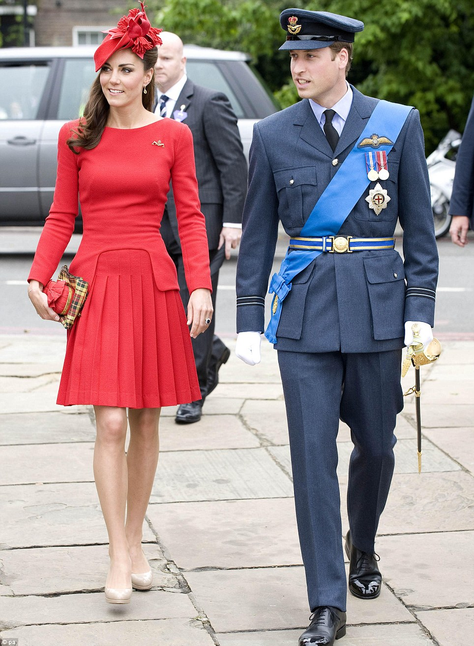 Fashion fashback: Kate paired the dress with her favourite LK Bennett nude heels and a tartan clutch when she joined Prince William for the Jubliee celebrations in 2012
