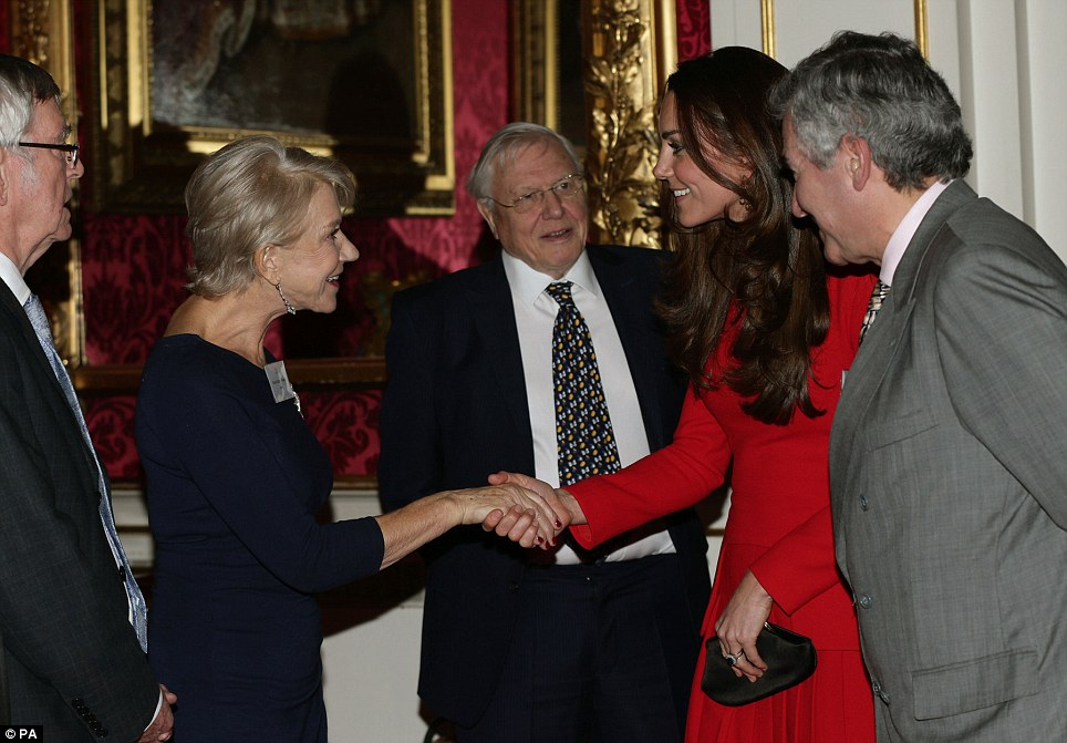 Meeting Kate: On Sunday night, Prince William described Dame Helen as 'an extremely talented British actress who I should probably call granny'