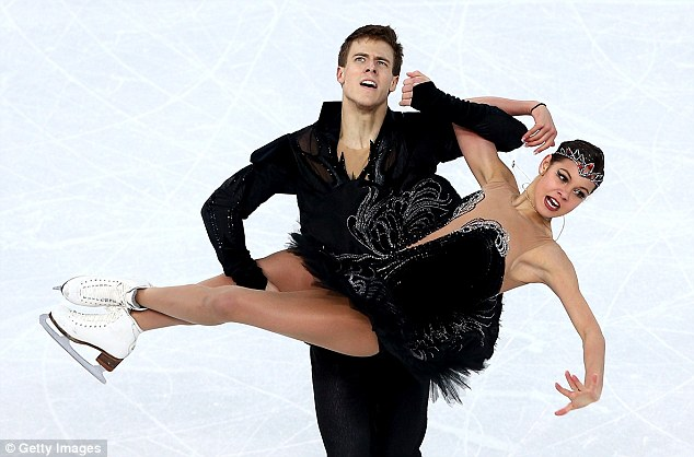 Not enough: Ilinykh and Katsalapov put on a stunning routine but they couldn't match the American pair