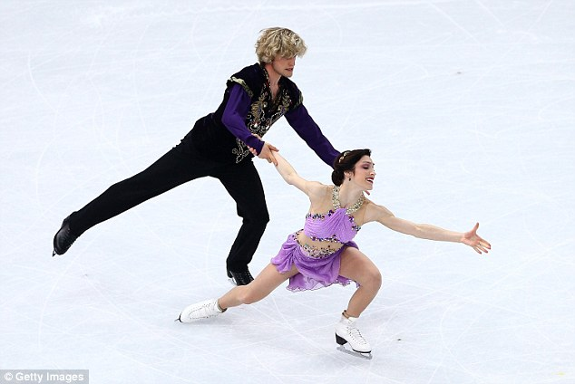 Coolly done: Davis leads the way as the pair pull off an eye-catching final routine