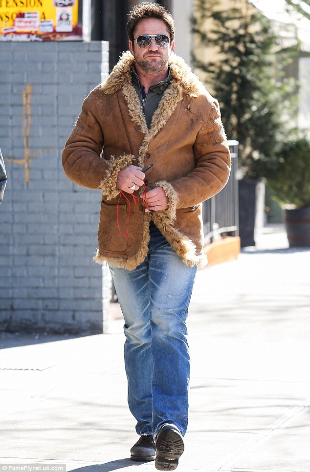 What was he thinking? Earlier in the day, the 44-year-old actor was not at his most fashion savvy as he stepped out in New York donning a wooly sheepskin coat that looked like a reject from the American Hustle wardrobe