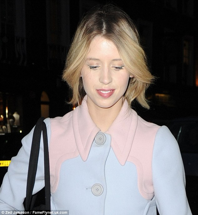 She's so high brow! Peaches Geldof was seen leaving Tracie Giles salon after having the Tracie Giles 3D Hair by Hair Brows treatment
