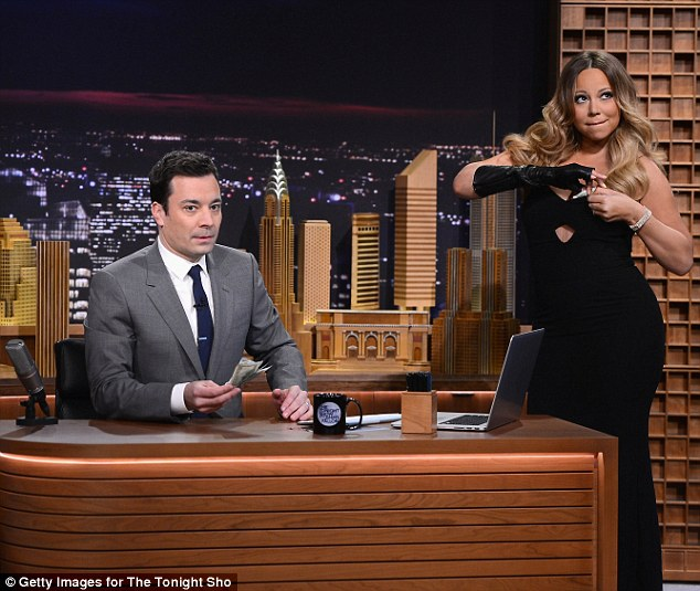 Jolly good show: Jimmy Fallon made a strong debut as the new host of The Tonight Show, with an estimated audience of about nine to 10 million people tuning in on Monday night