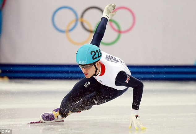 Great support: GB skater and Christie's boyfriend Jack Whelbourne, who bowed out of the 500m, is her 'rock'