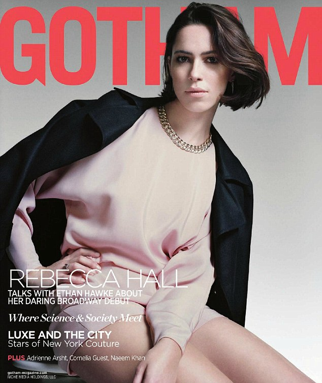 Brown Eyed Beauty: Rebecca Hall, 31, appeared on the cover of Gotham magazine for a chat with actor Ethan Hawke, 43