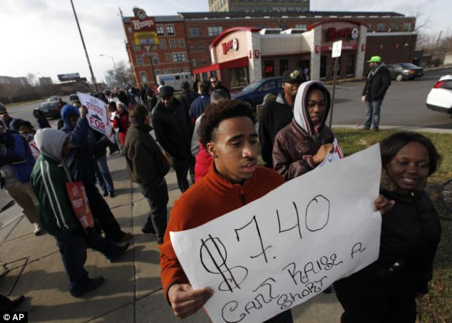 Union labor has organized protests across the country to demand a minimum-wage hike, since many union contracts include higher wages that rise whenever the minimum wage goes up