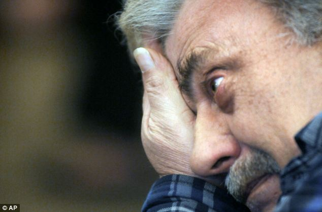 Fred Haynes, father of Darlene, breaks down during the sentencing of Corey in Worcester, Mass., Superior Court today