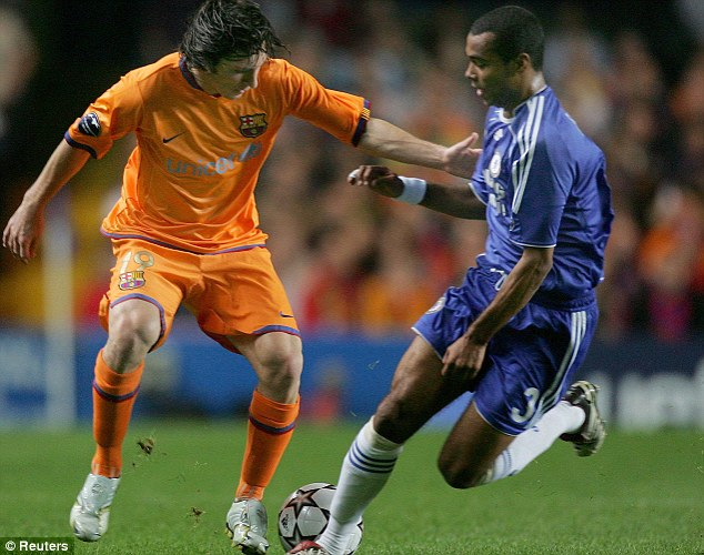 Blue order: Chelsea were 1-0 winners over Barca in the group stage of 2006/07