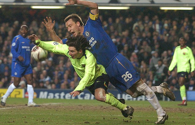 Welcome to England: Messi's first appearance on these shores was during a 2-1 victory at Chelsea in 2006