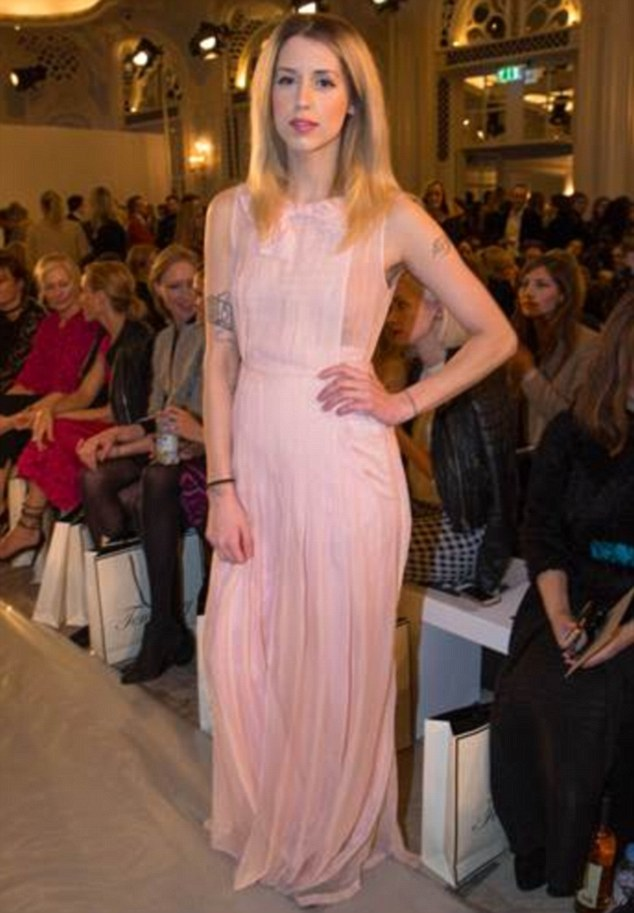 Raising eyebrows of her own: Peaches caused concern with her incredibly slim figure at the Alice Temperley show during LFW earlier this week