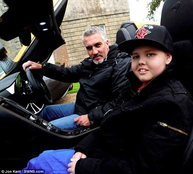 Deryn with TV baker Paul Hollywood. The teenager's mother says that as his treatment repeatedly failed, he became prepared for his death