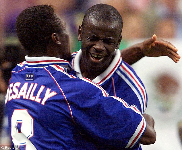 Still patriots: Lilian Thuram and Desailly were both born outside France but played for Les Bleus