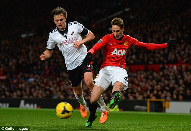 Catch him if you can: Januzaj in action for United during their draw against Fulham earlier this month
