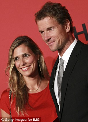 Lady in red: Lehmann with his wife Conny