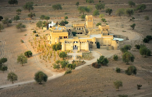 Sand castle: The luxurious Mihir Garh is a 'shrine to the artistic and architectural traditions of Rajasthan'