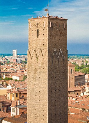 Room with a view: The Torre Prendiparte B&B in Italy is housed in a 900-year-old tower