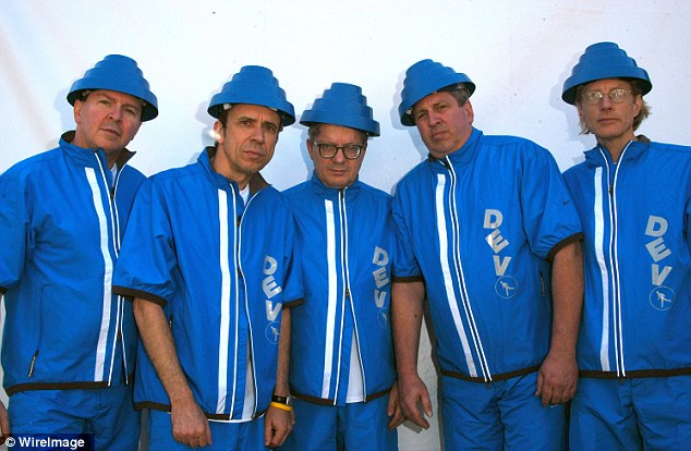 Devo, pictured here during a reunion tour in 2008. (From left) Gerald Casale, Bob Mothersbaugh, Mark Mothersbaugh, Bob Casale and David Kendrick. The band became as famous for their sound as they did their iconic 'energy dome' hats