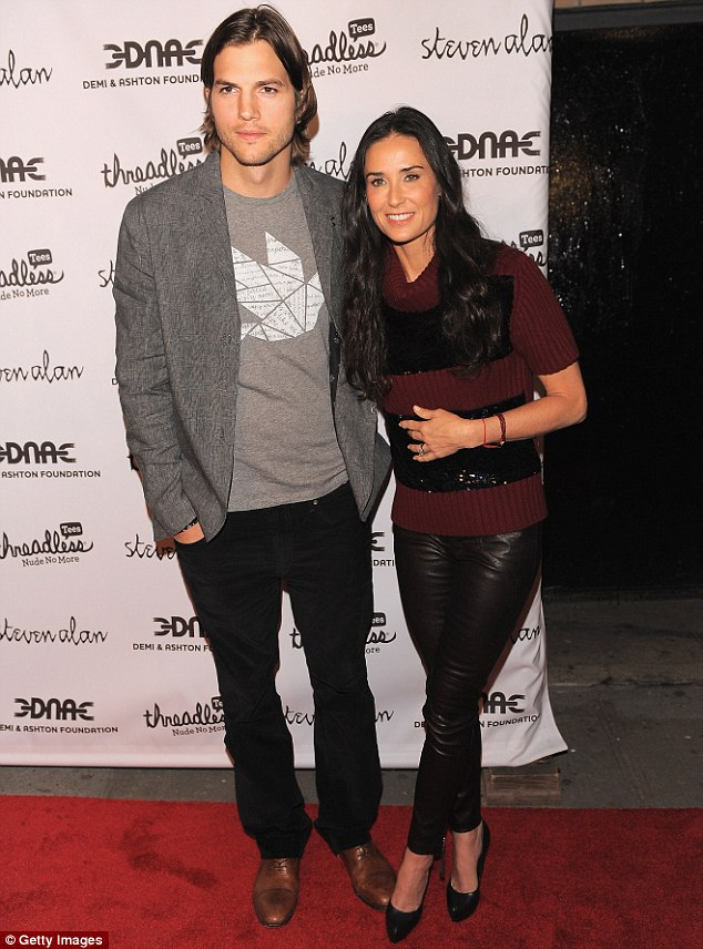 She's got a type: Demi and her ex Ashton Kutcher, back in 2011 in New York