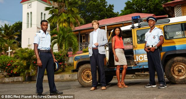 Death In Paradise, starring Kris Marshall (centre left) as DI Goodman, must be the silliest programme on television