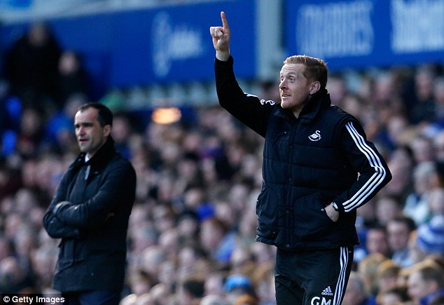 Rally call: New Swansea manager Garry Monk has asked his players to take inspiration from beating Valencia