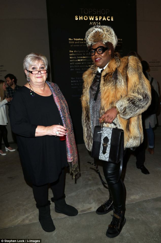 Out of her comfort zone: Jenni Murray talks to fashionista Richard Shoyemi at the Ashish show