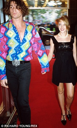 Despite a string of high profile lovers including pop idol, Kylie Minogue in Michael Hutchence's life, he remains close friends with his first serious Girlfriend, Michele Bennett