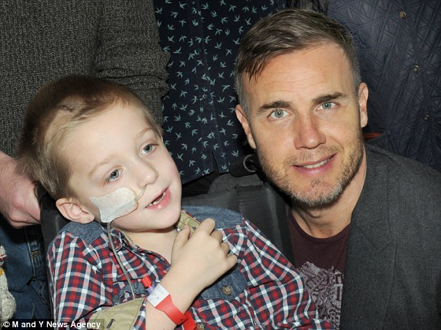 Another fan: Jack also got to meet Take That singer Gary Barlow last week, who paid him a visit