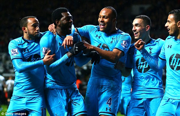 Spurred on: Tottenham's Champions League hopes have been given a huge boost in recent matches
