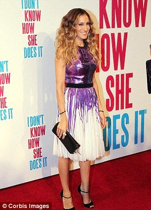 Sarah Jessica Parker starred in the fillm 'I Don't Know How She Does It', playing ever-juggling working mother Kate Reddy