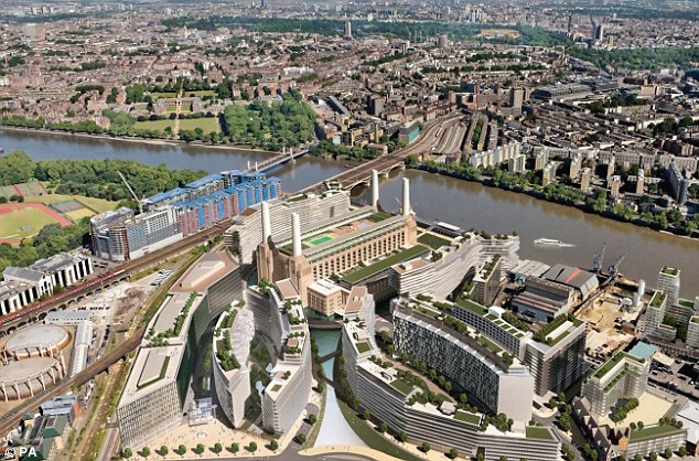 Second phase: The latest stage in the development will see flats marketed in London alone, as developers aim to entice people already living in the capital to the new community