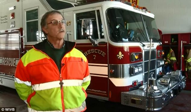 Thankful: Allegany Fire Media Officer Gordon Scott said he was shocked to hear Levia had been fired