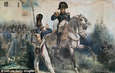Commander: Napoleon with his army
