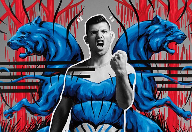 Picture this: Aguero features in artwork by Argentinian artist Jaz for Pepsi Max