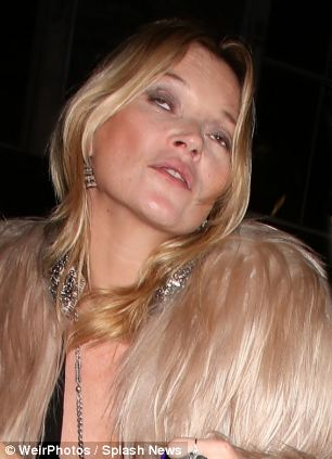 Jaded: Kate Moss this week