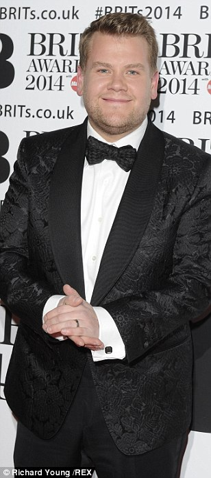New day new look: James looked the polar opposite of his dapper self at the Brits in a grey tracksuit leaving his north London home