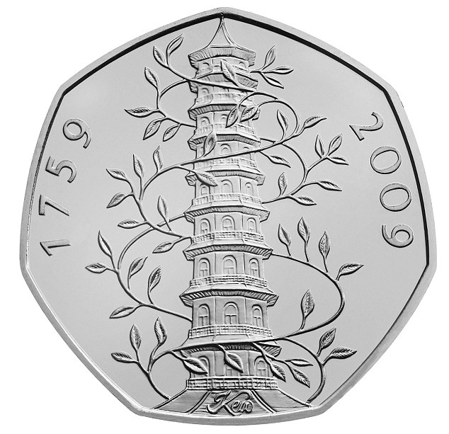 Rare coin: Check your pockets and piggy banks - do you own one of these Kew themed 50p coins?
