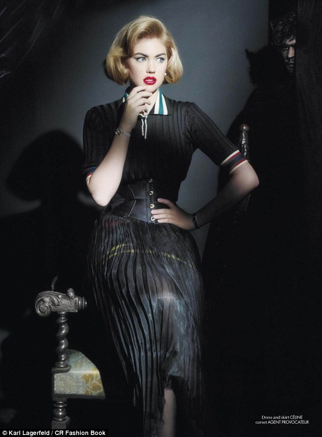 Famous photographer: The shoot was styled by Carine Roitfeld, who has enlisted Miss Upton as a recurring muse