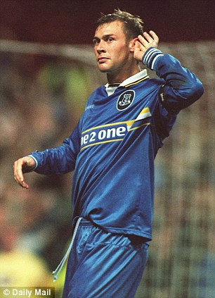 Targetman: Feguson scored 72 goals in 273 appearances for the Blues during two spells with the club