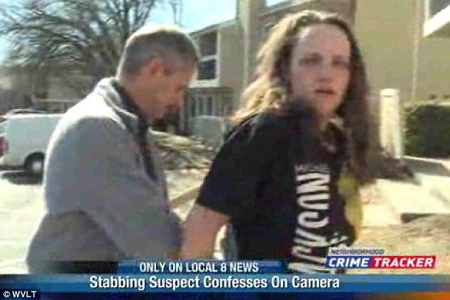 Got her: The reporter who captured Nichols' confession called police who came and arrested the 31-year-old mother