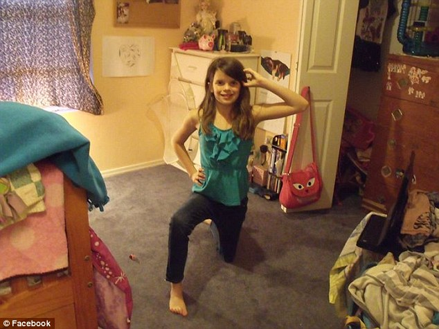 Loving: Hailey's aunt, Erin Petersen, described the 10-year-old, pictured, as 'an absolute ray of sunshine'
